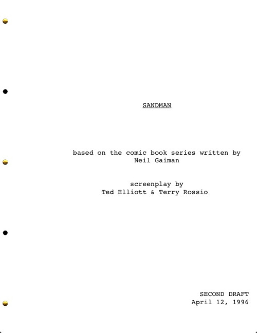 Check out the [obviously] unused 1996 script for a Warner Bros. Sandman film. It's not bad at all.. I woulda paid to see it. It's better than most of the shit Hollywood cranks out.