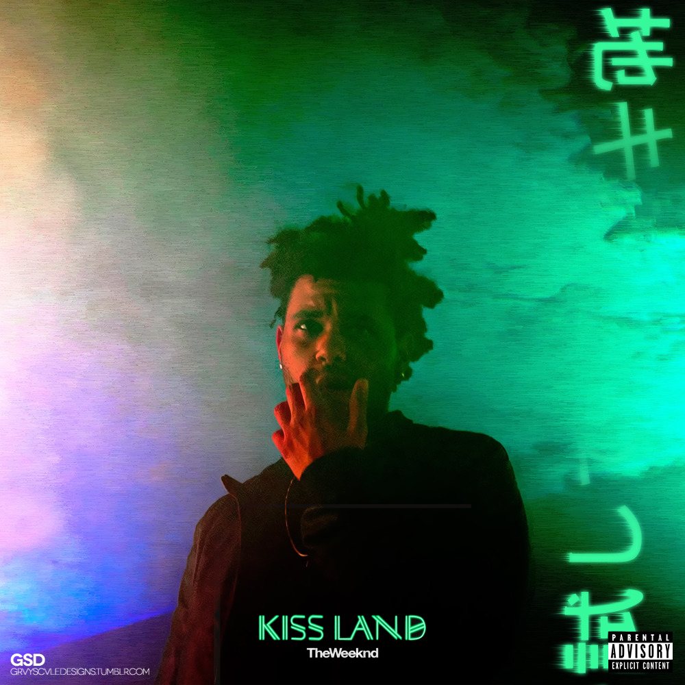 grvyscvledesigns:  Cover Art: The Weeknd - Kiss Land #GSDcovers