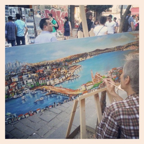 Boğaziçi / Βόσπορος  travel91days:  More Galata street art. #Istanbul #streetart