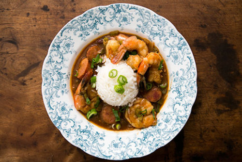 wehavethemunchies:  Shrimp Gumbo with Andouille Sausage Recipe