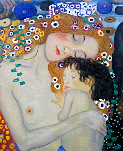 Gustav Klimt, The Three Ages of Woman (detail), 1905
