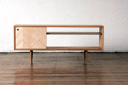 Mid century modern media console by GKSFurnitureMaker on Etsy