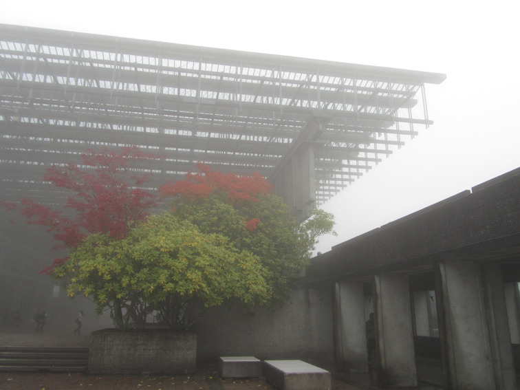 Up at SFU on a foggy day.