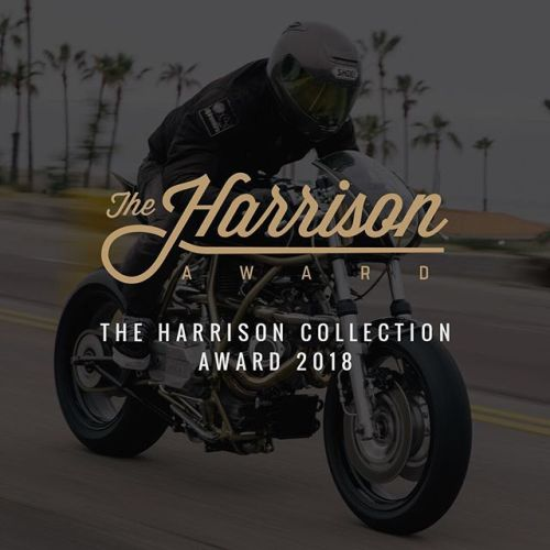 Today, we're launching @theharrisoncollection Award, a major competition for new custom talent. With $25,000 in prizes, it's a chance for two builders to get a head start. Judges include Bike EXIF's Chris Hunter, @maxwellhazan, and film director...