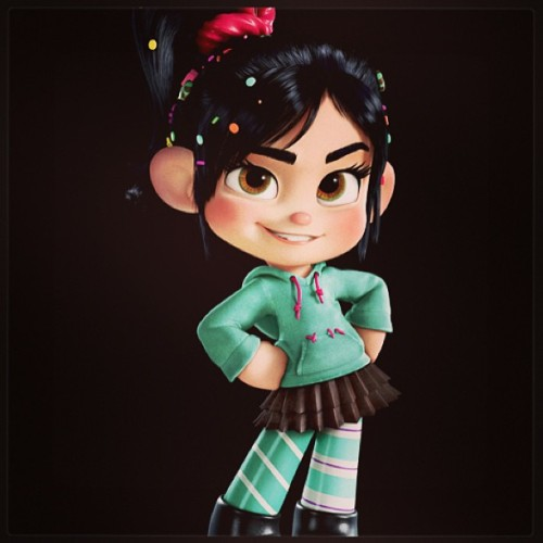 Vanellope from Wreck it Ralph. Watch it if you haven't yet, it's super cute!