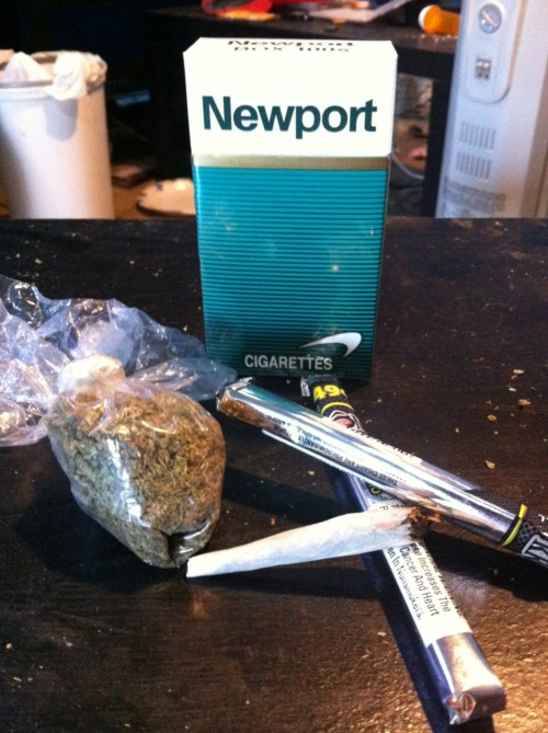 give-love-get-hate:  What my day consists of.  I love love love a Newport after a couple bowls.(: