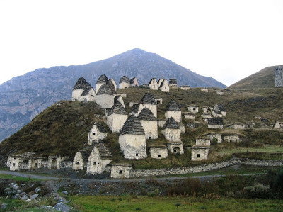 gunsandposes:  A necropolis in North Ossetia, Russia. (via)