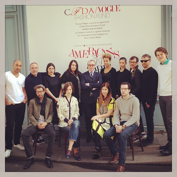 @tommyhilfiger in the middle #americansinparis #pfw @cfda @voguemagazine