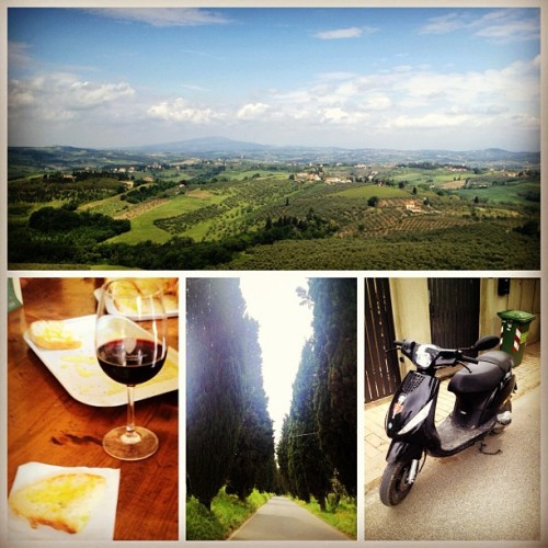 Today I took a vespa tour through the hills of Chianti. It was the best thing I've done while studying abroad! The sites were unbelievably beautiful. There really is nothing better than being under the Tuscan sun☀