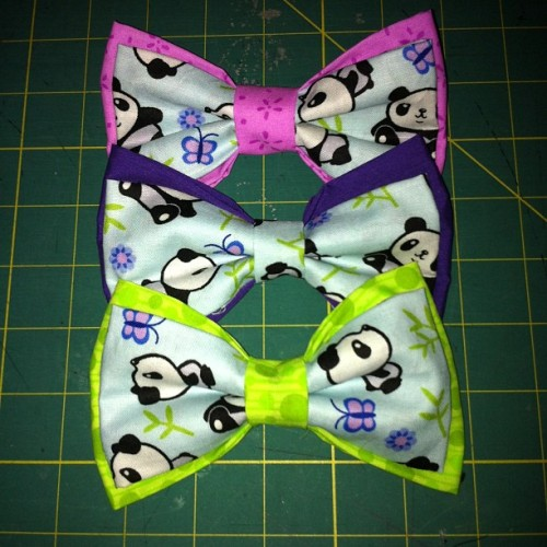 Panda bows come in three varieties :3