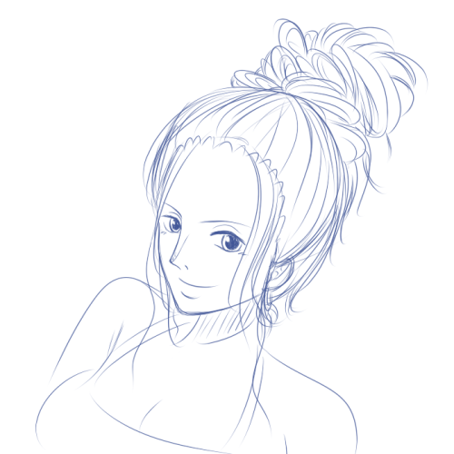 Aaaand have another Robin, this time with a messy bun