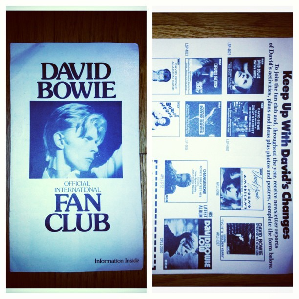 #davidbowie #fanclub #heroes #ziggystardust #brianeno #tonyvisconti #bowie #rebelrebel  (at the house of Augustine)
