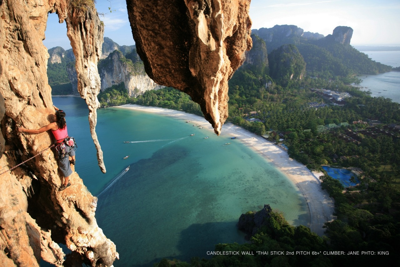 climberclimbing:  Railay Beach in Krabi, Thailand