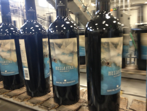 Look what's getting bottled today! Pre-order Hella Fine Merlot here.