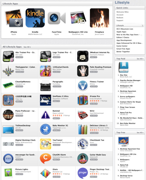 Lifestyle Apps in the App Store is pretty much the most useless category. They really throw all the crap they don't have categories for in here.