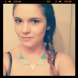 Will be available in any color! Leather triangle necklace. Http://shopbeatniq.com #nashville #smallbusiness #leatherjewelry #leather #jewelry #beatniq #handmade #mint #gold #necklace #etsy #trend #pantone #awesome #painted #triangle #boho #bohemian #artsy