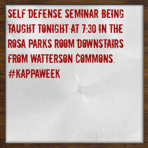 #selfdefense #ISU #kappaweek #prevention