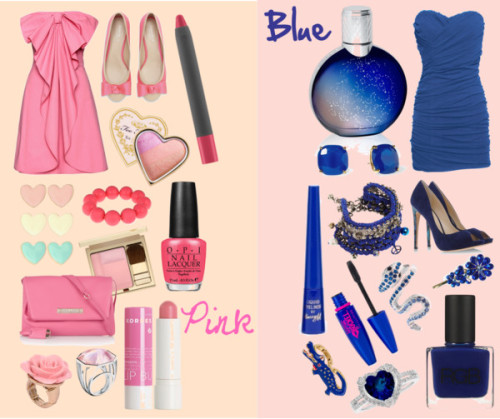 Pink & Blue• by rockmee featuring a sugar lip treatment ❤ liked on PolyvoreValentino  dress / Rare London sweetheart neckline cocktail dress, $11 / Carvela satin shoes, $53 / Alexandre Birman suede pumps / McQ by Alexander McQueen  / Venessa Arizaga chain bracelet, $220 / Heart jewelry / Reeds Jewelers diamond ring / Kate Spade  earrings / Lori's Shoes stretch ring / Fornash vintage bracelet / Talullah Tu crystal jewelry, $38 / Baccarat  jewelry / Betsey Johnson  / Johnny Loves Rosie hair clip accessory, $30 / Too Faced Cosmetics  / Blush / Barry M blue eyeliner, $7.10 / Pencil eyeliner, $36 / Maybelline , $26 / Van Cleef & Arpels  perfume / Korres sugar lip treatment, $7.43 / RGB nail polish / OPI  nail lacquer, $26