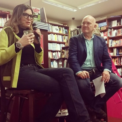 Dee and Jonathan in convo at Readings last night. Fab convo, she's funny and enigmatic and has brilliant stories from her 18+ years in advertising (which happen to be in her book The Hard Sell, you should buy a copy!). (at Readings)