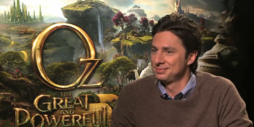 Oz The Great and the Powerful | ZACH BRAFF INTERVIEW [VIDEO]