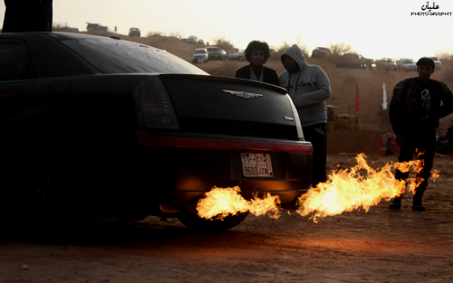 mopar-obsession:  Chrysler 300 SRT8 Spitting Fire