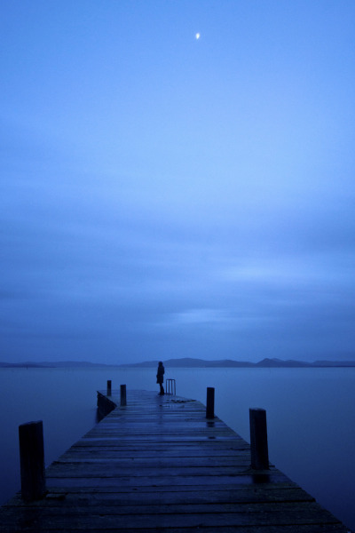 Blue Hour in the dock… (by Andrea Morico)