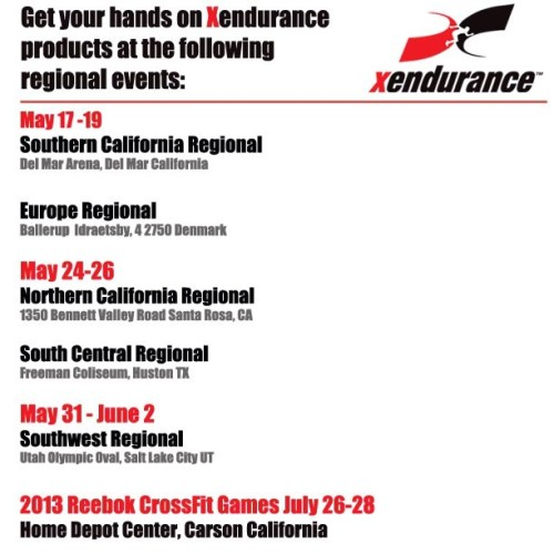 Make sure to visit us at the following regionals: #cfgames #crossfit #cfinvictus #joshbridges #camilleleblancbazinet #evcf #clinicallyproven
