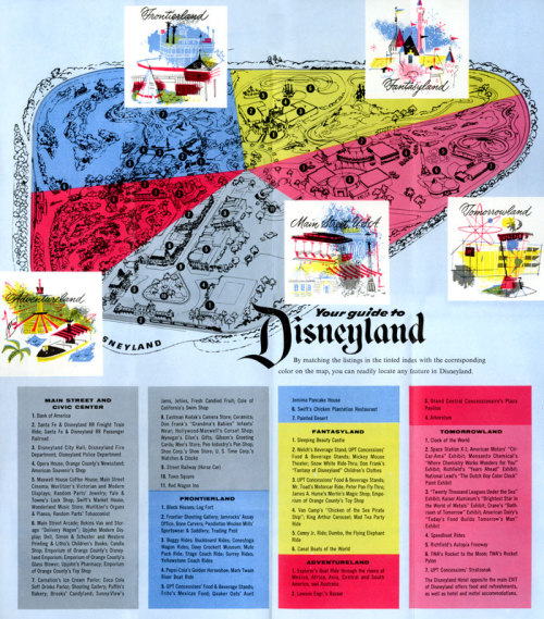 vintagedisneyparks:  1955 Bank of America Brochure with Disneyland map