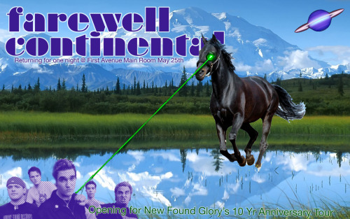 Farewell Continental will be playing one show only in 2013(so far as we know) on May 25th at First Avenue in Minneapolis, MN.  Come One & Come All.  Spread the word.  Thanks!