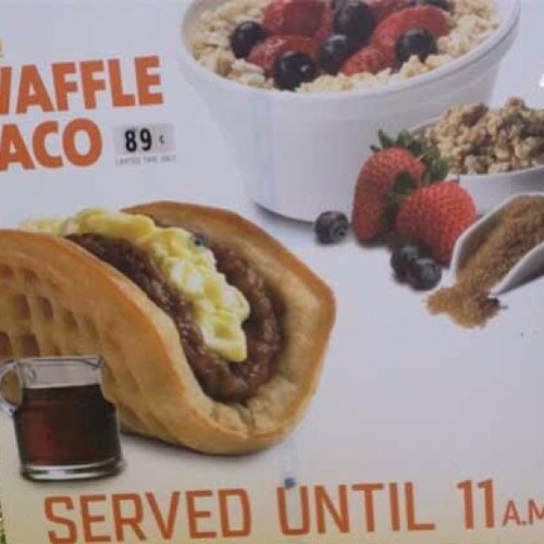 Waffle Tacos being tested in SoCal Taco Bell markets…. Ummm I'll take four!