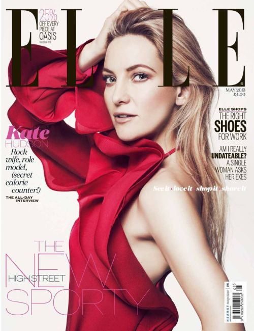 Kate Hudson looks lovely in Gucci on the May 2013 cover of Elle UK.