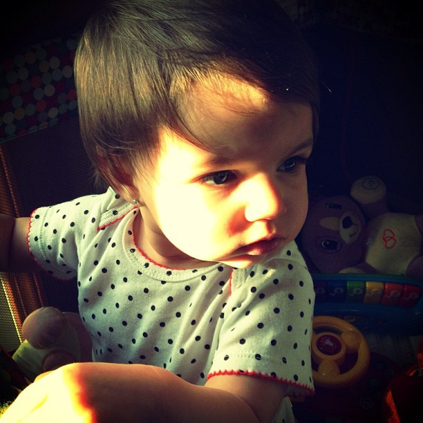 My #beautiful niece! #baby #kskvs #violet #portrait #love #family @digglesyo #babygram  (at Le Ville de Foreign)