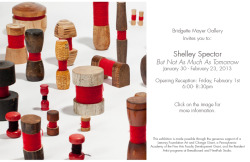 "Shelley Spector has a show that opens at the Bridgette Mayer Gallery (Philadelphia) tonight. Shelley's exhibition, ""But Not As Much As Tomorrow"" continues until February 23, 2013.   Bridgette Mayer Gallery 709 Walnut Street, 1st Floor Philadelphia, PA 19106"