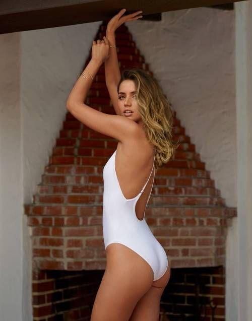 Ana De Armas white swimsuit
