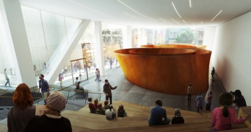 SFMOMA released new renderings of the interiors of its Snohetta-designed expansion featuring Richard Serra's Sequence (2006). This new gallery space on Howard street looks huge…
