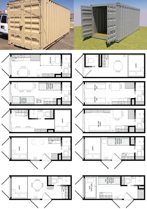 Some brilliant ideas for 20ft containers by Michael Janzen from Tiny ...