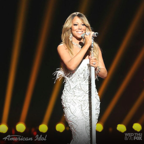 americanidol:  The #Beautiful Mariah Carey is glistening on the Idol stage!