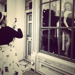 #burlesque #model #window #rockabilly #retro #humboldt #eureka #goodrelations
