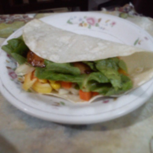 Healthy chicken teriyaki wrap. :) #food #burp #dinner #latepost
