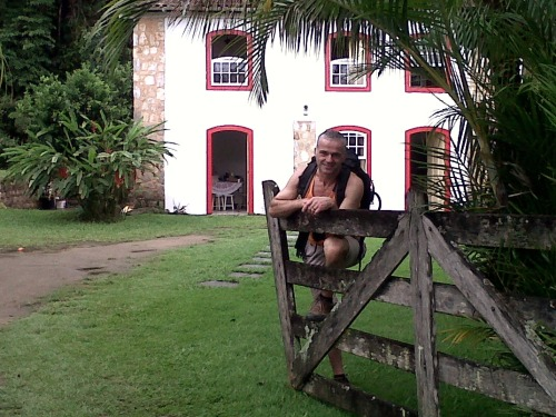 house and my bf in Paraty 2012-Brazil