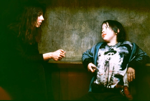 fuckyeahdirectors:  Kathryn Bigelow and Joshua John Miller on-set of Near Dark (1987)