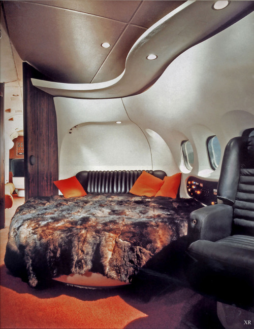 theoriginaljoefisher:  Fucking hilarious —-> 1969… Hugh Hefner's jet! (by x-ray delta one)