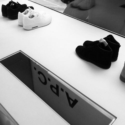 apcofficial:  A.P.C. + Nike launch rue Vieille du Temple via http://instagram.com/ladytiffanygodoy/#