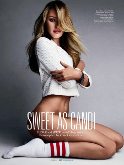 atropolis:  Candice Swanepoel for Vogue Australia: 'Sweet as Candi' June 2013 issue by Victor Demarchelier for more click here