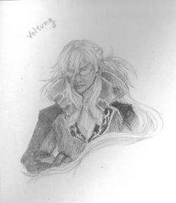 asheill-art:  Sketch of Volsung, villain in one of my favorite video games, Wild Arms 5. I'm too stubborn to tear the page out of my sketchbook and therefore can only secure bad scans, sorry.  Though my favorite character is Greg…