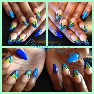 The Blues #nails #nailart #spring #summer #picasonails #fun #potd #nailsoftheday #girls #fun #vacation #nyc #brooklyn