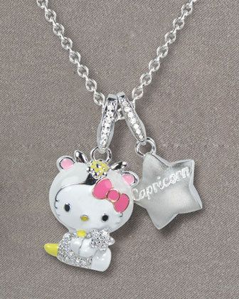 Hello Kitty Zodiac Necklace, Capricorn -  $950  Capricorn: December 22-January 19  Ambitious, patient, and hardworking, you are devoted to your friends and family.