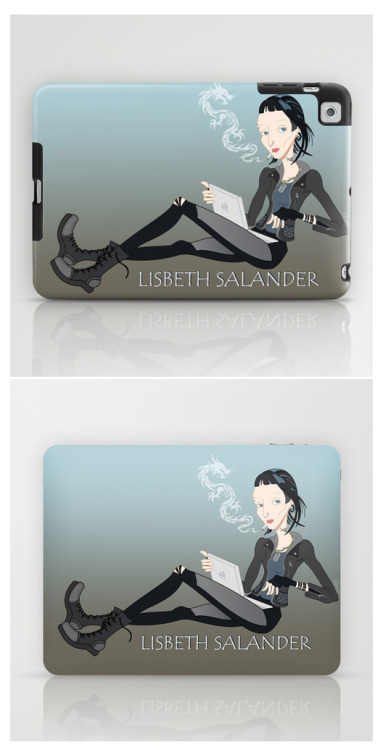 The Girl who Played with fire  ♥  Lisbeth Salander Cartoon iPad Cases / Laptop & iPad Skins