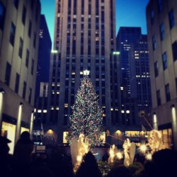 Christmas in New York. (at Rockefeller Center)