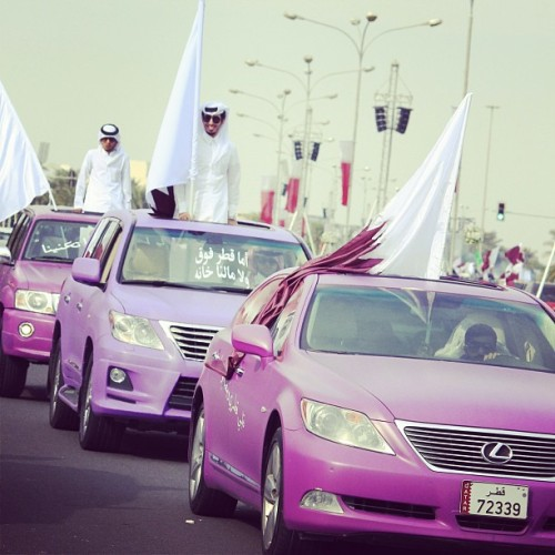 #18dec #doha #dubai #qatar #national_day #2012 #purple